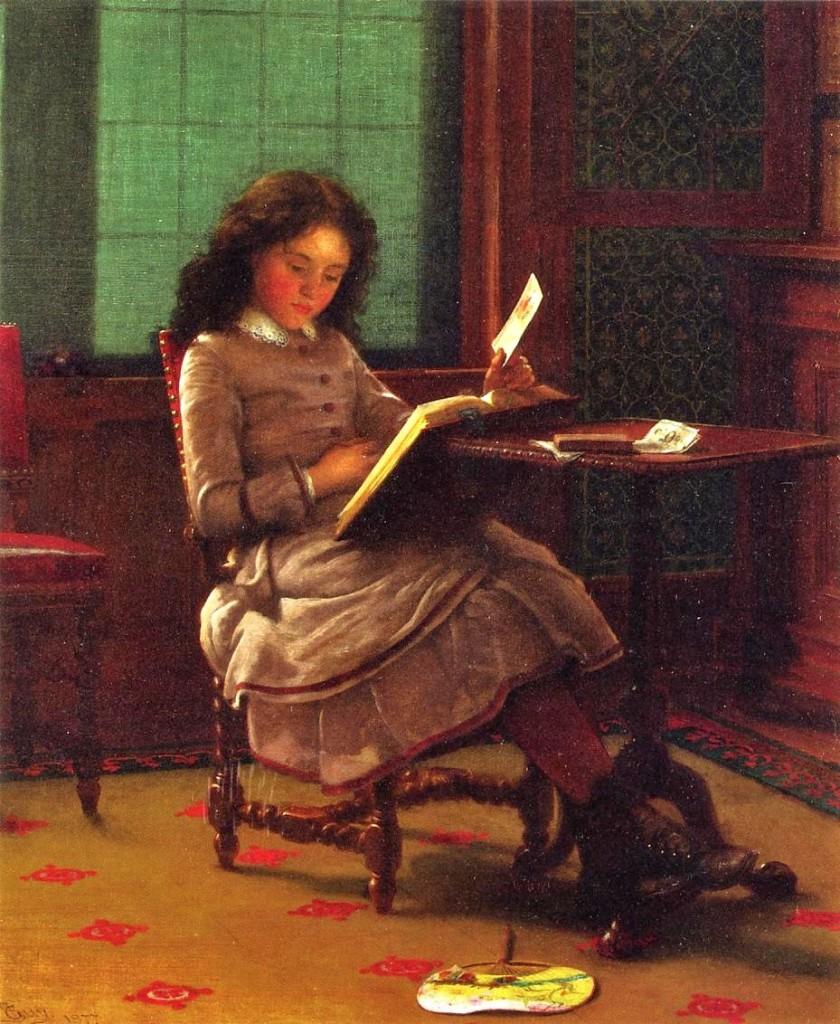 "Seymour Joseph Guy, ""Young Girl Reading"" (1877)"