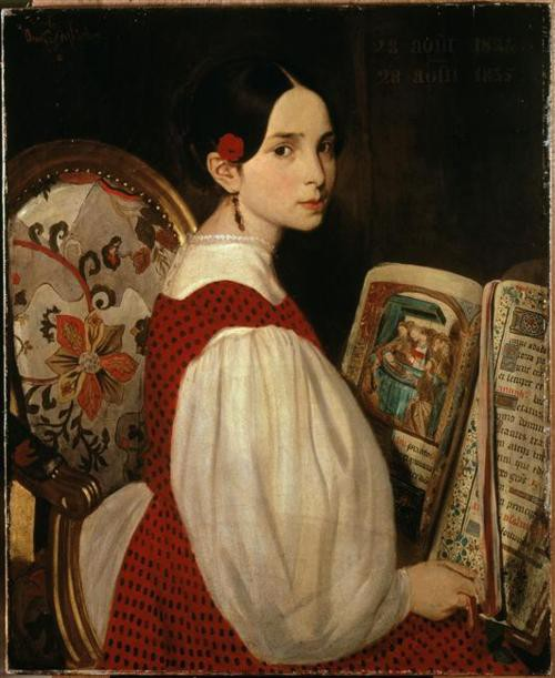 "Auguste de Chatillon, ""Léopoldine Reading the Book of Hours"" (1835)"