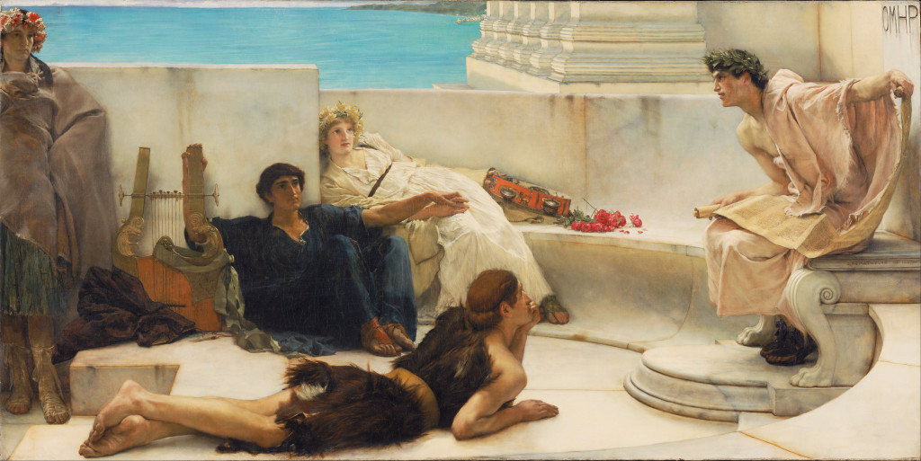 "Sir Lawrence Alma-Tadema, ""A Reading from Homer"" (1885)"