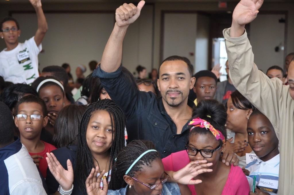 Dr. Samson Davis returns to his Newark classroom