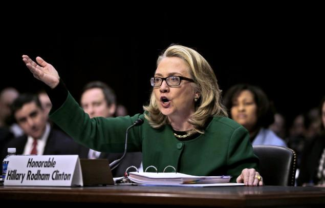 Hillary Clinton at an earlier Benghazi hearing
