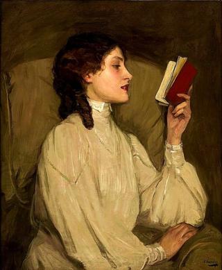 """Sir John Lavery, """"Miss Auras, The Red Book"""""""