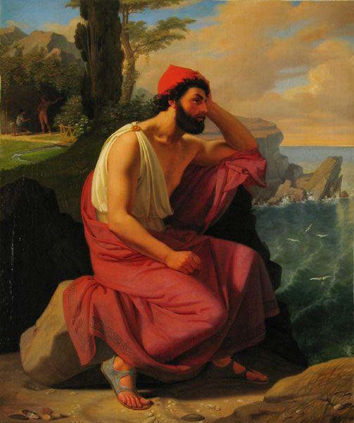 """Detlev Conrad Blunck, """"Odysseus on Calypso's Island"""""""