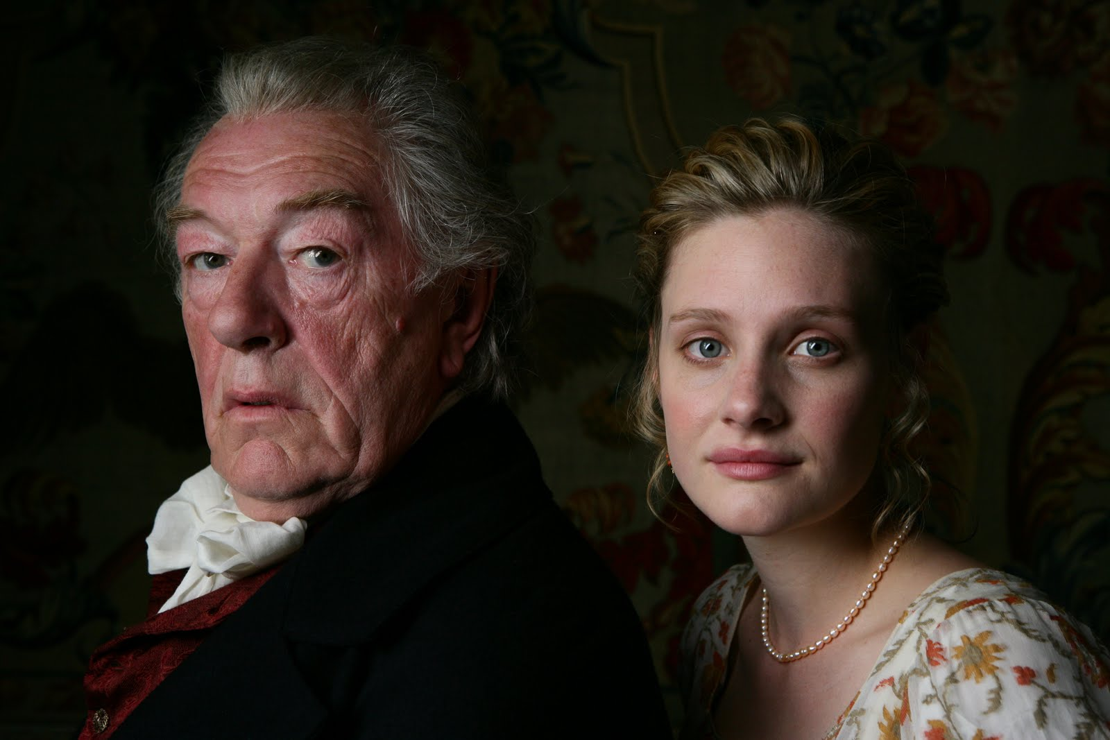 Gambon and Garai as Mr Woodhouse and Emma