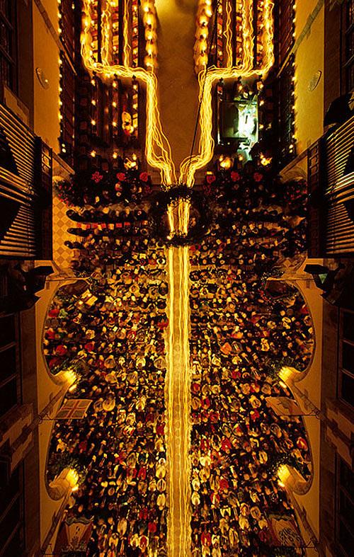 Stephen Alvarez, Sewanee Festival of Lessons and Carols (shot from above)