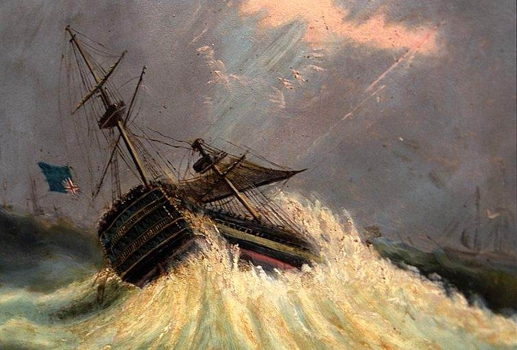 """Buttersworth, """"Ship in Storm"""""""