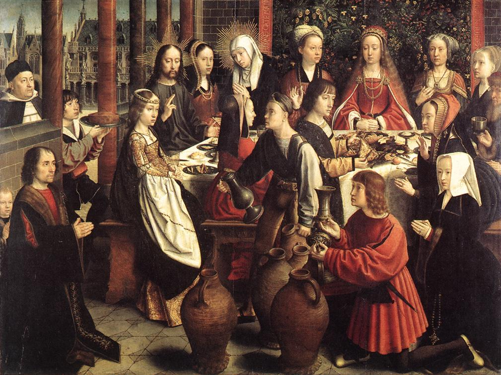 "Geerard David, ""The Marriage at Cana"" (c 1500)"