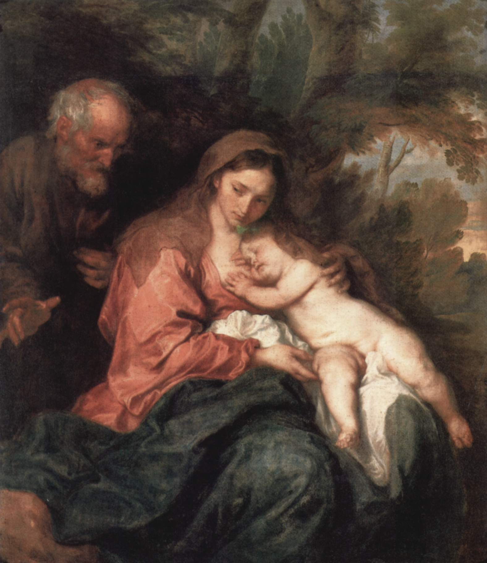"Anthony van Dyck, ""Rest on the Flight into Egypt"" (1630)"
