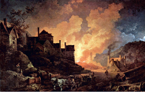 "Philipp Jakob Loutherbourg, ""Coalbrookdale by Night"" (1801)"