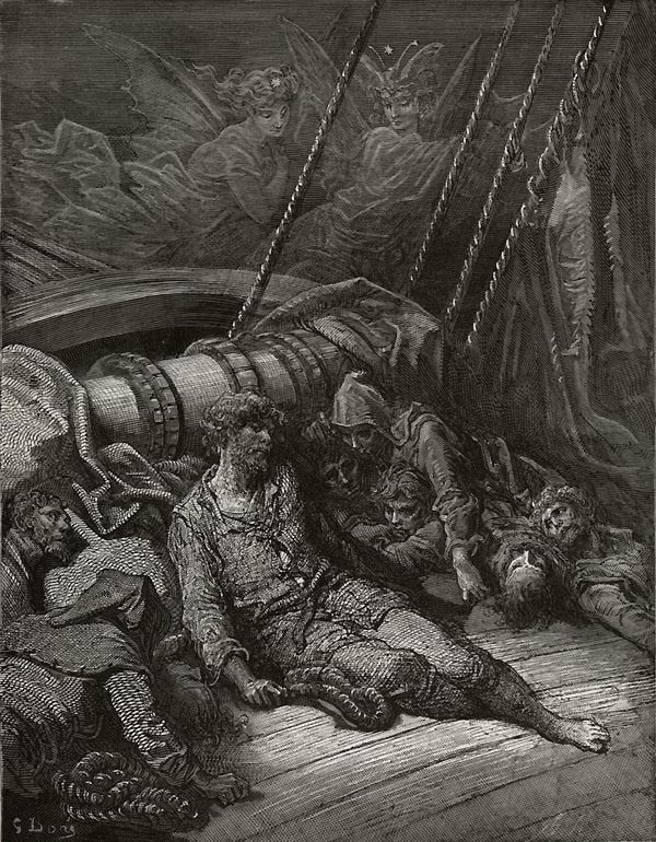 "Gustave Doré, the dead men in ""Rime of the Ancient Mariner"""