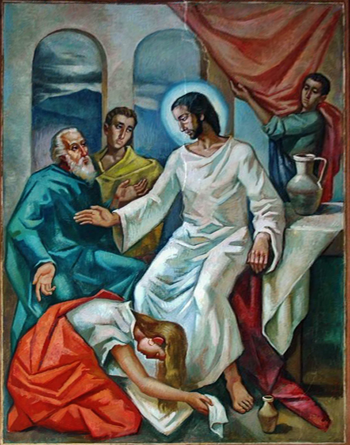 Painting from Church of St Mary Magdalene in Esplugues (Catalonia, Spain)