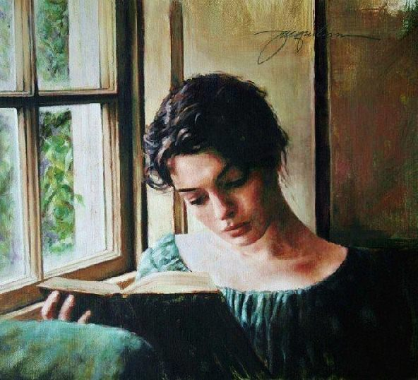 Jacquelyn Bischak - Woman reading by the window