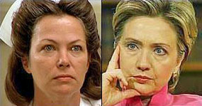 Bancroft as Nurse Ratched, Hillary Clinton