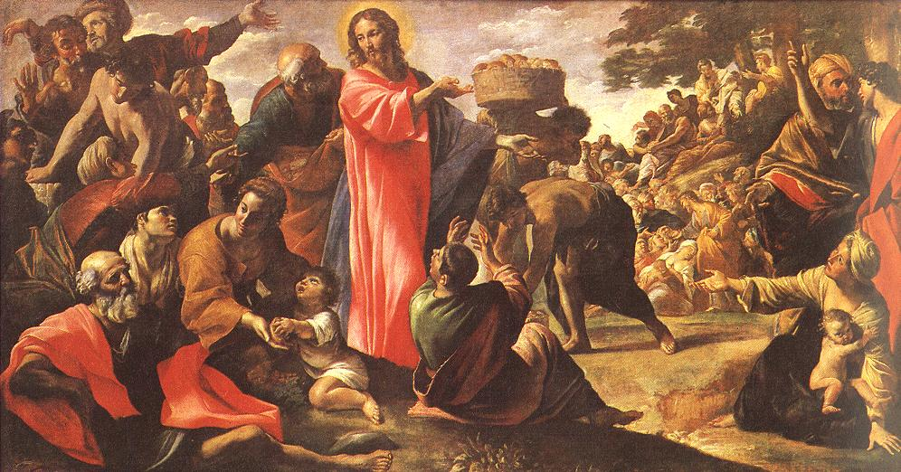 """Giovanni Lanfranco. """"The Multiplication of the Loaves and Fishes"""""""