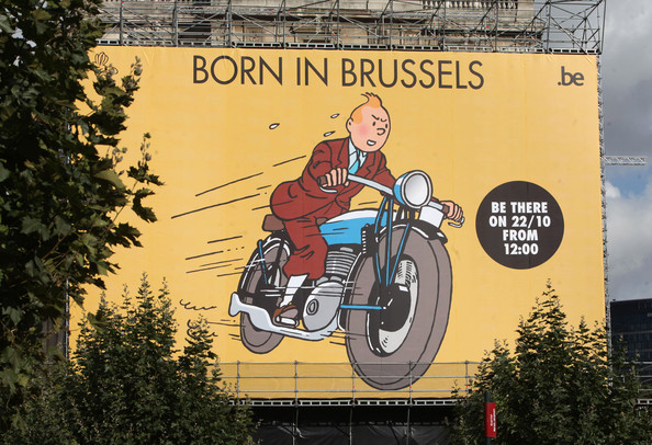 Tintin in Brussels