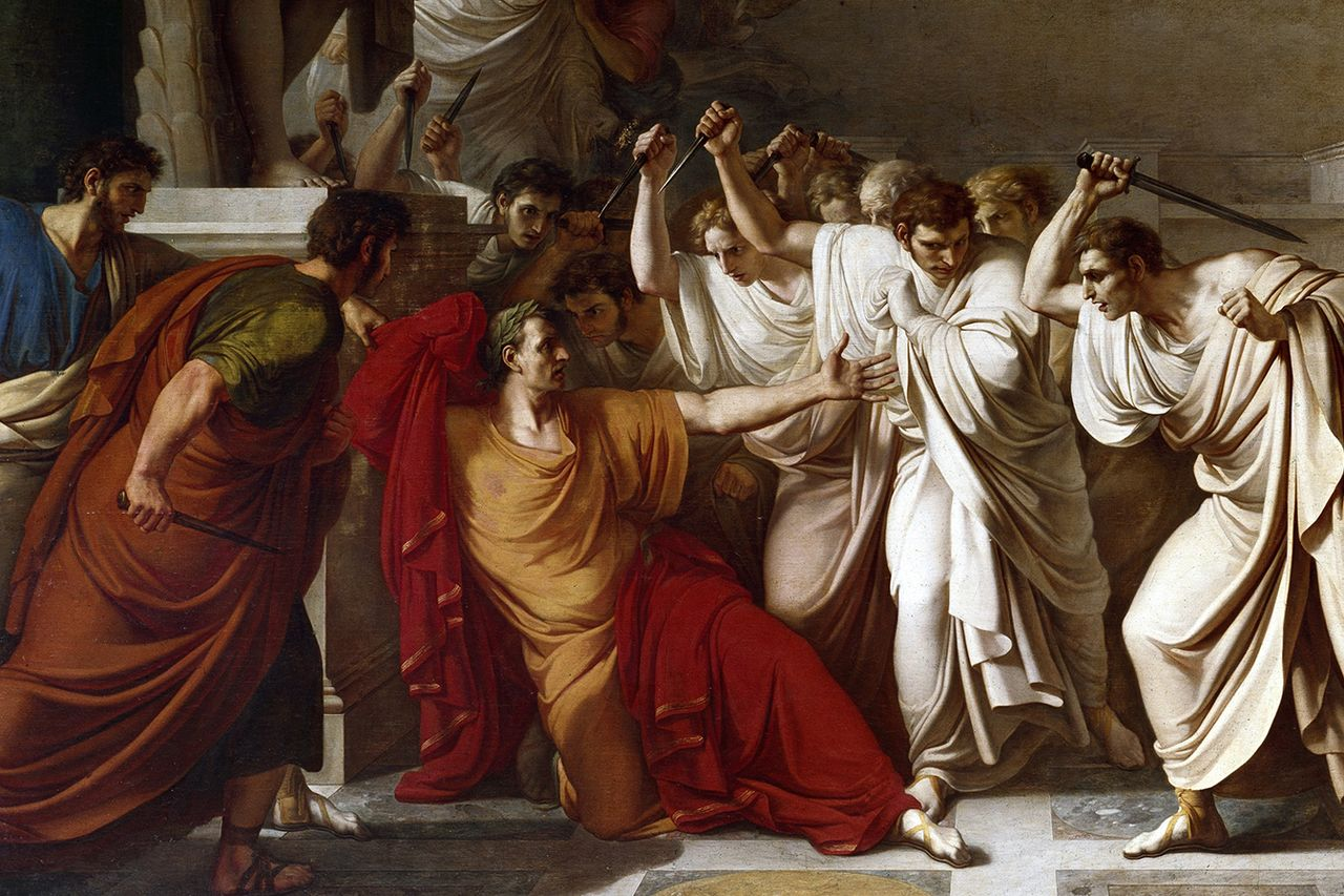 "Vincenzo Camuccini, ""Death of Julius Caesar"""