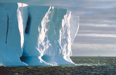 Antarctic ice shelves in danger