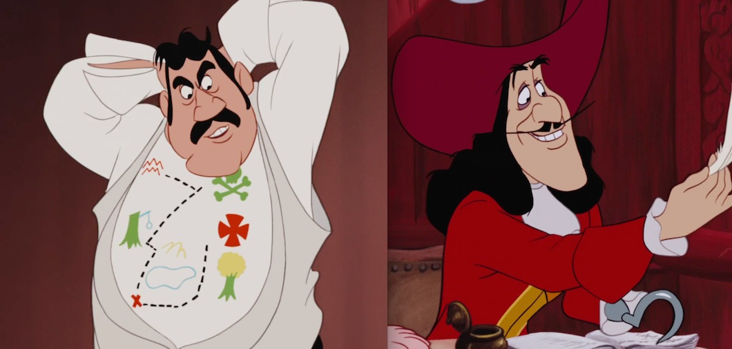 "Mr. Darling and Captain Hook in ""Peter Pan"""