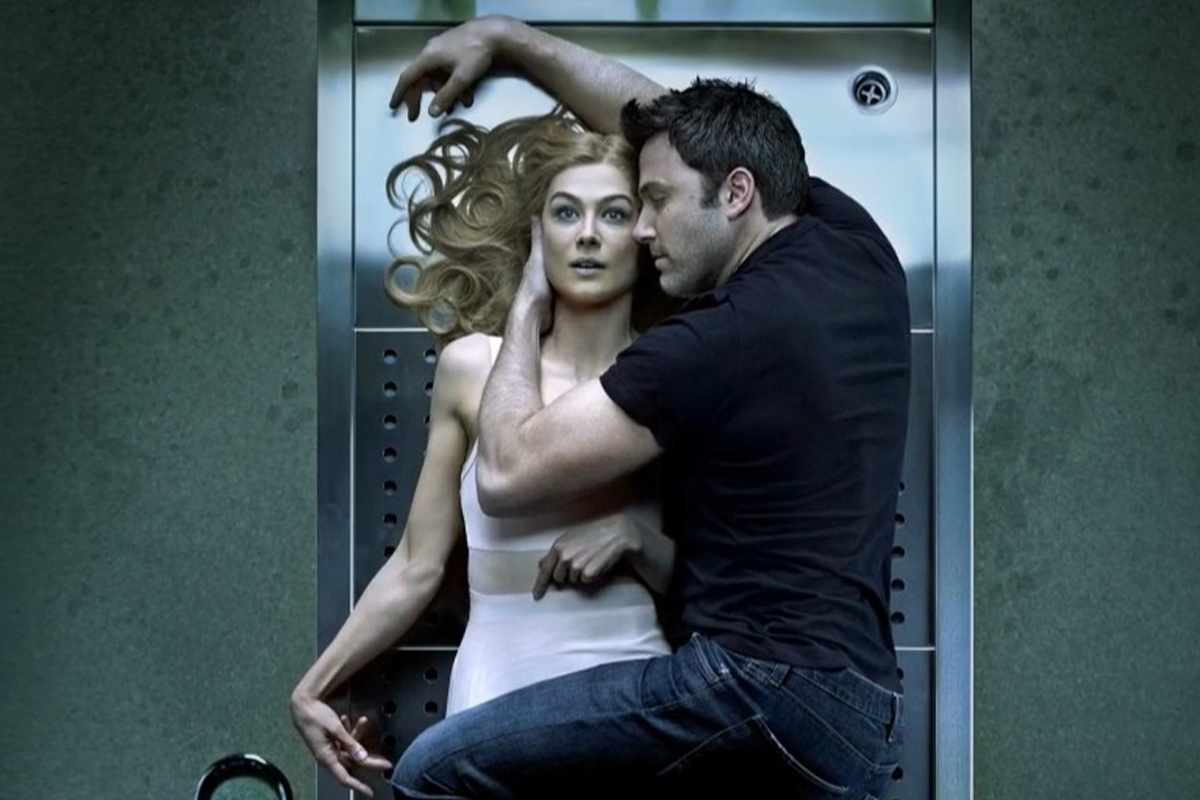 "Pike and Affleck in ""Gone Girl"""