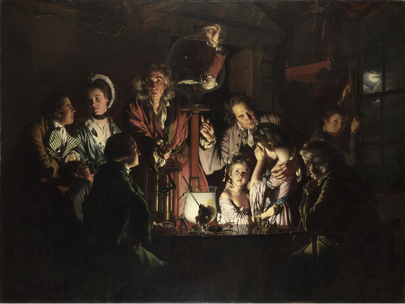 "Joseph Wright of Derby, ""An Experiment upon a Bird in an Air Pump"""