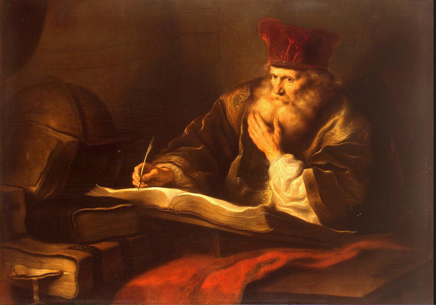 "Salomon Koninck, ""An Old Scholar"""