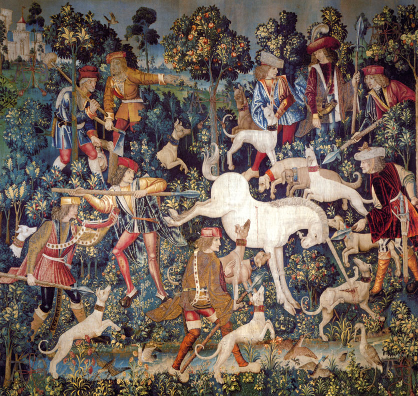 """The Hunt of the Unicorn,"" Cloisters tapestry"