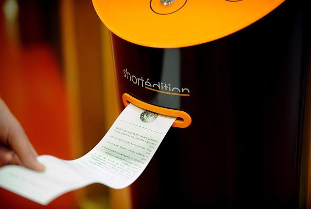 Short stories dispensed via vending machines