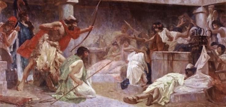 """Slobodna Dalmacija, """"Odysseus Kills the Suitors"""""""