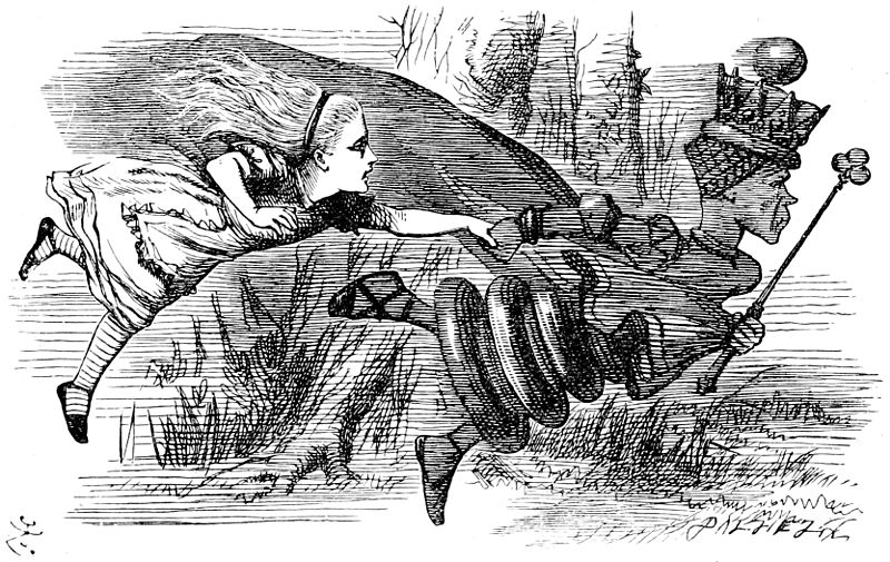 "John Tenniel, ""Through the Looking Glass"""