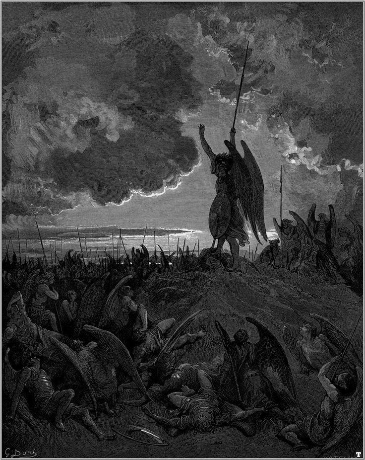 Gustave Doré, Milton's Satan inspiring his troops
