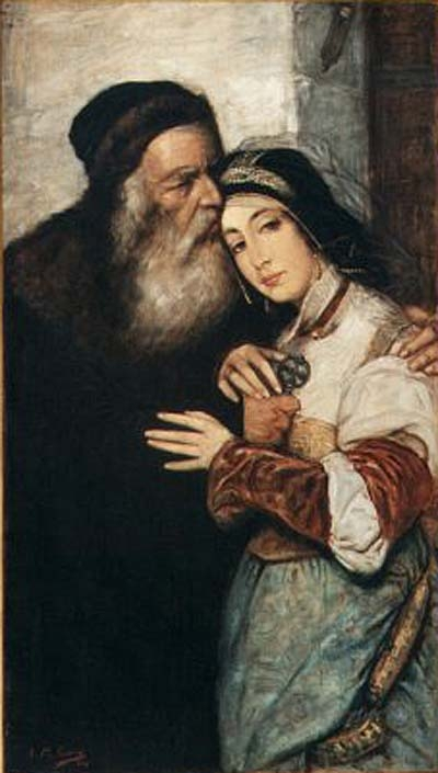 "Maurycy Gottlieb, ""Shylock and Jessica"""