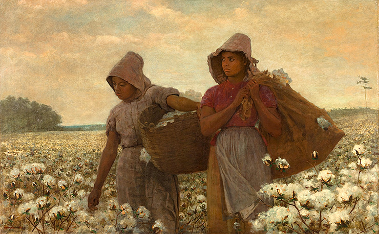 "Winslow Homer, ""Cotton Pickers"""