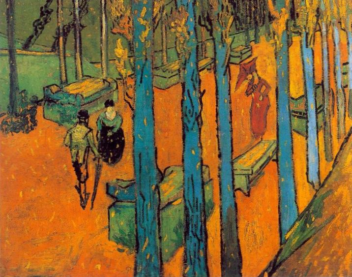 "Vincent Van Gogh, ""Falling Autumn Leaves"""