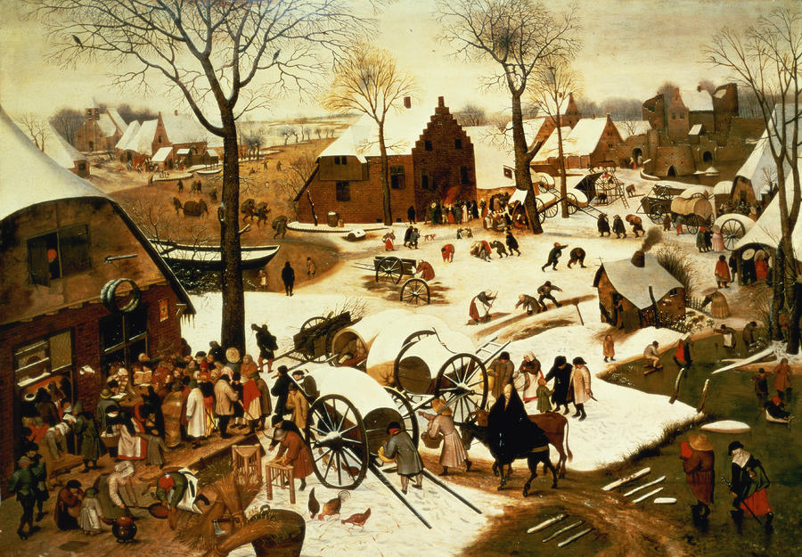 "Brueghel, ""The Census at Bethlehem"""