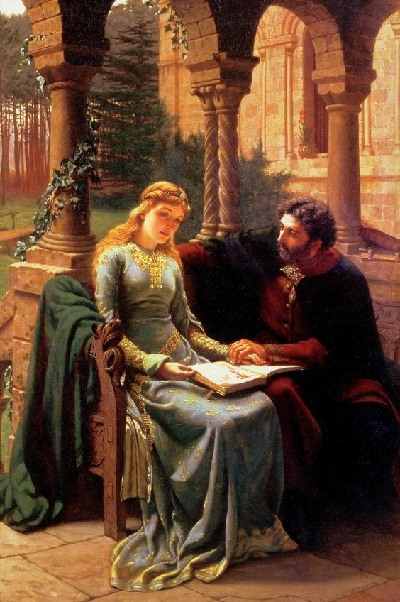 "Edmund Blair Leighton, ""Abelard and his Pupil Heloise"""
