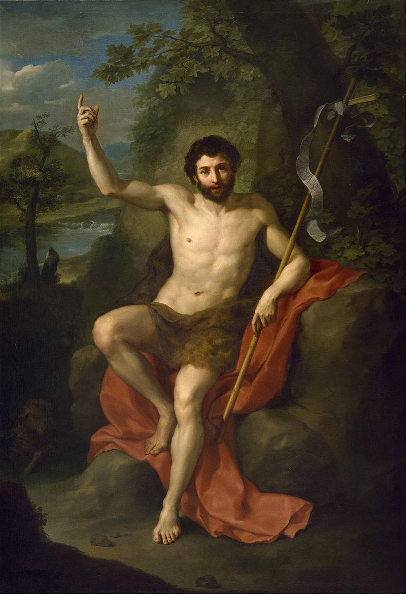 "Anton Raphael Mengs,""John the Baptist"" (1760)"